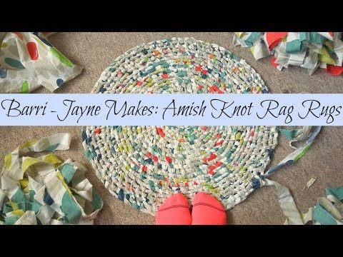How To Make A Toothbrush Amish Knot Rag Rug Tutorial You