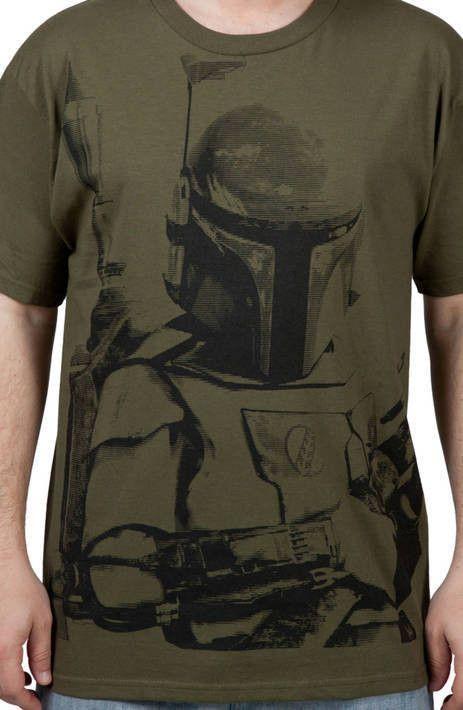 Army Green Boba Fett Shirt