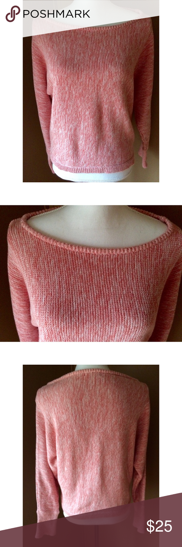 Sundance Pink Marled Scoop Neck Sweater | Layering, Scoop neck and ...