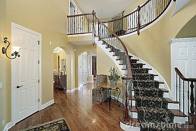 Best Double Curved Staircase Cost Bing Images Entrance Hall 400 x 300