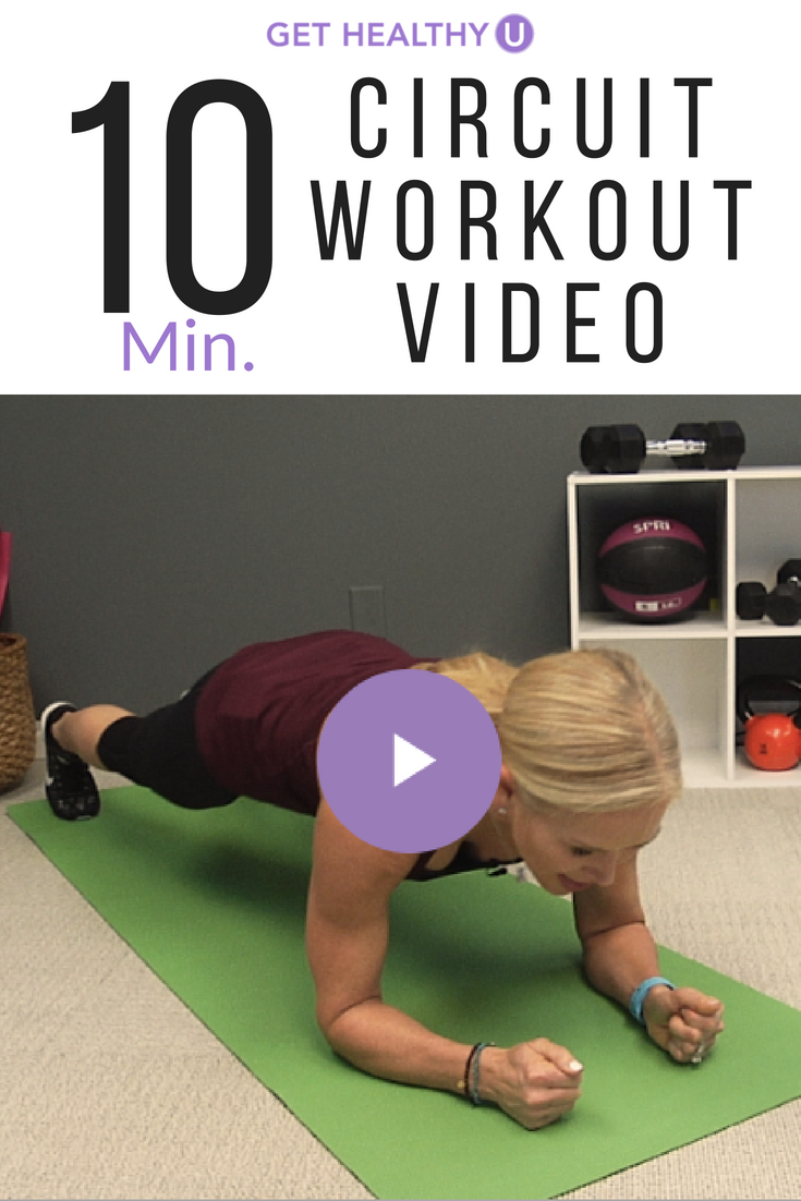 Have 10 minutes?? Try this circuit workout to get your sweat on even if you  don't have a lot of time :) #gethealthyu #10minute #quickworkouts #circuit