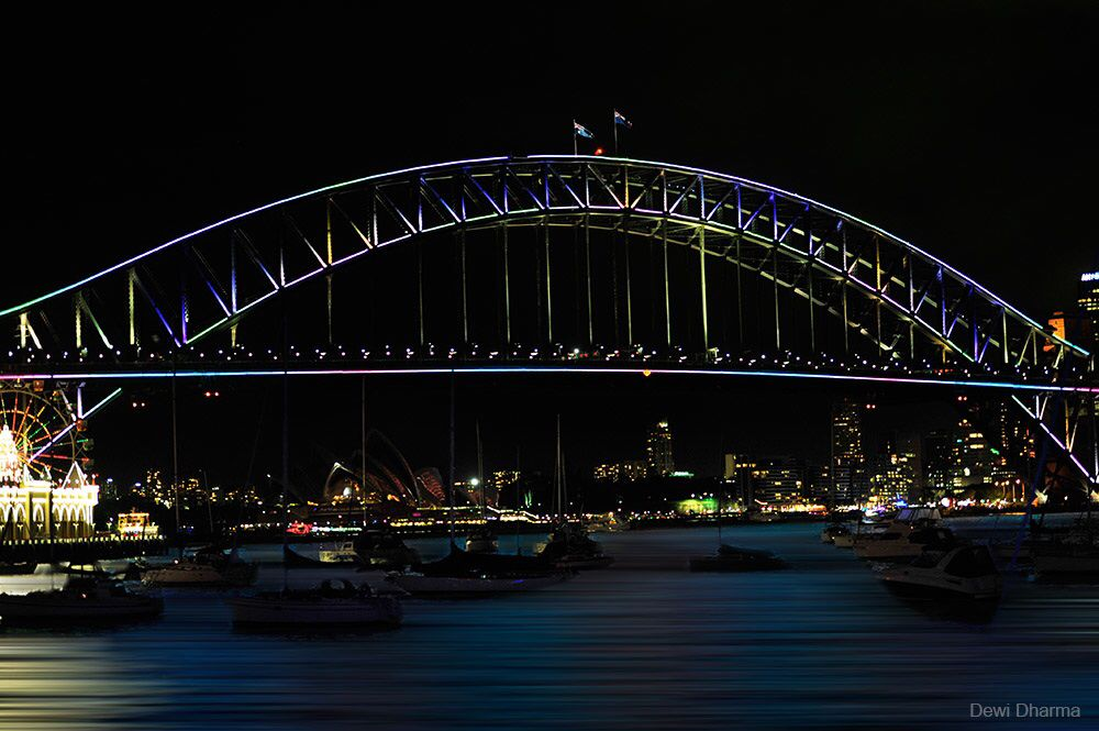 Harbour Bridge - Vivid Sydney June 2014