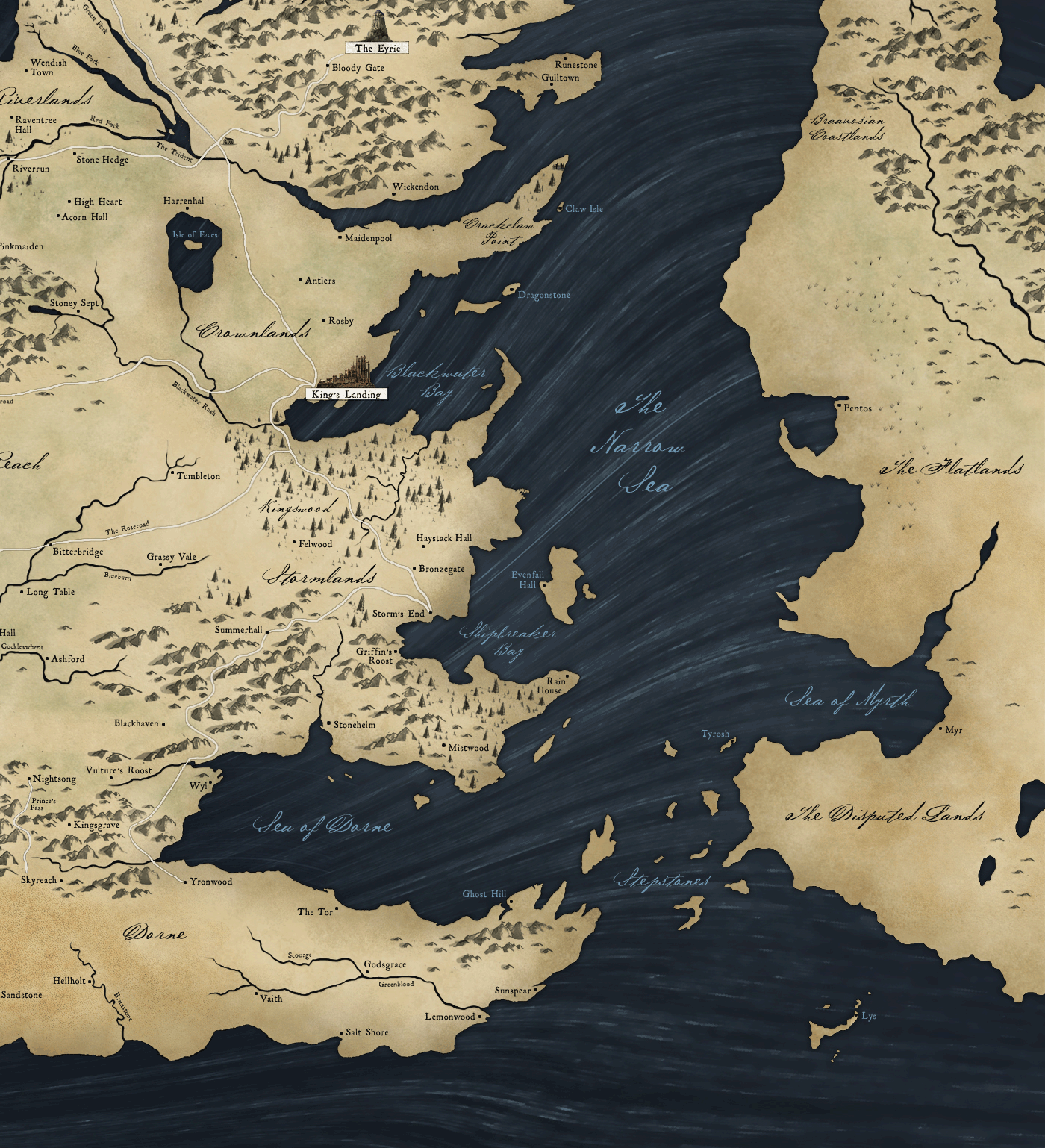 Hbo game of thrones viewers guide with a fancy map syfy fantasy game of thrones viewers guide gumiabroncs Images