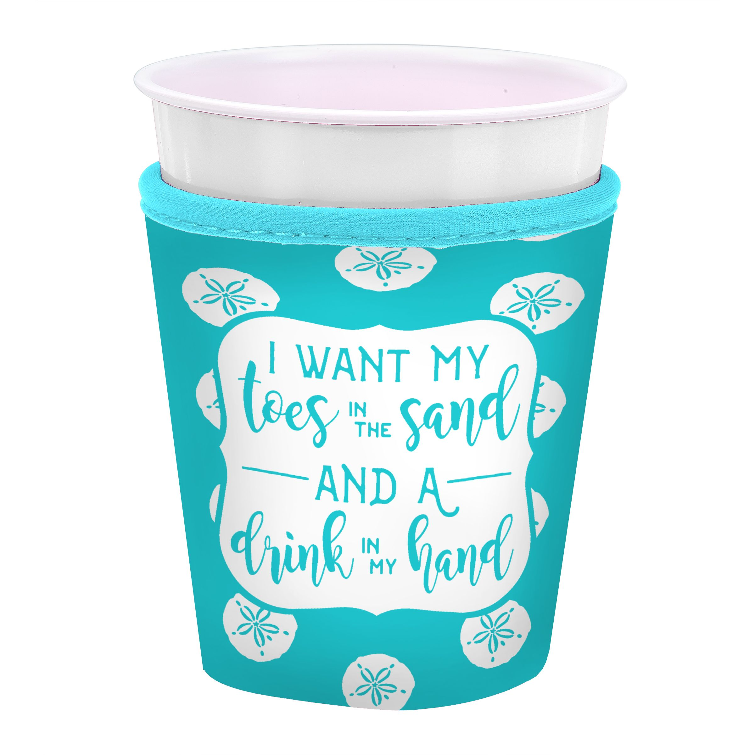 Insulated Cup Coozie I Want My Toes In The Sand And A Drink Hand Occasionally Made Beach Accessories Pool Great Gift Ideas For Her