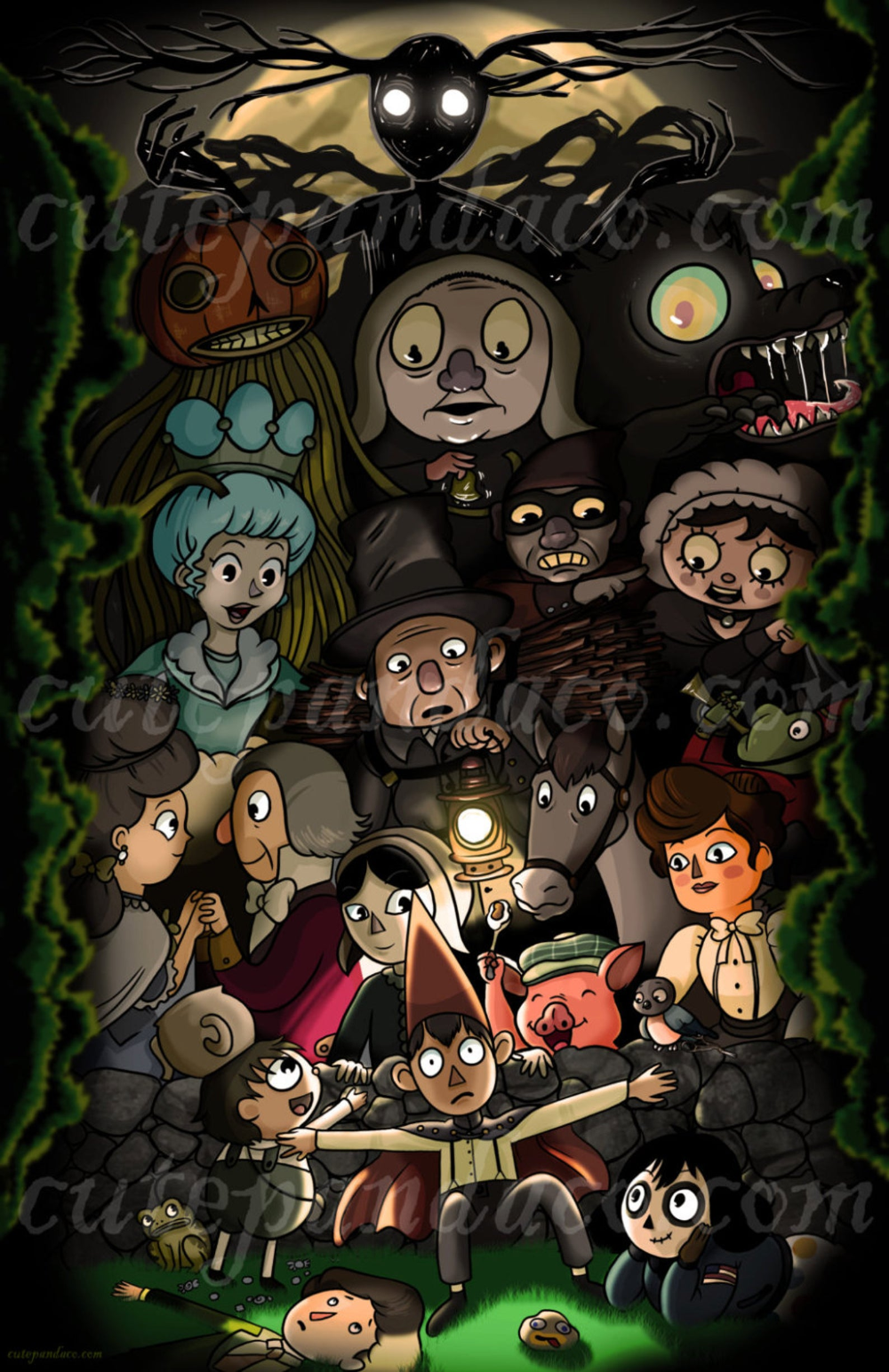 Over The Garden Wall All Character Print Over The Garden Wall Garden Wall Garden Wall Art