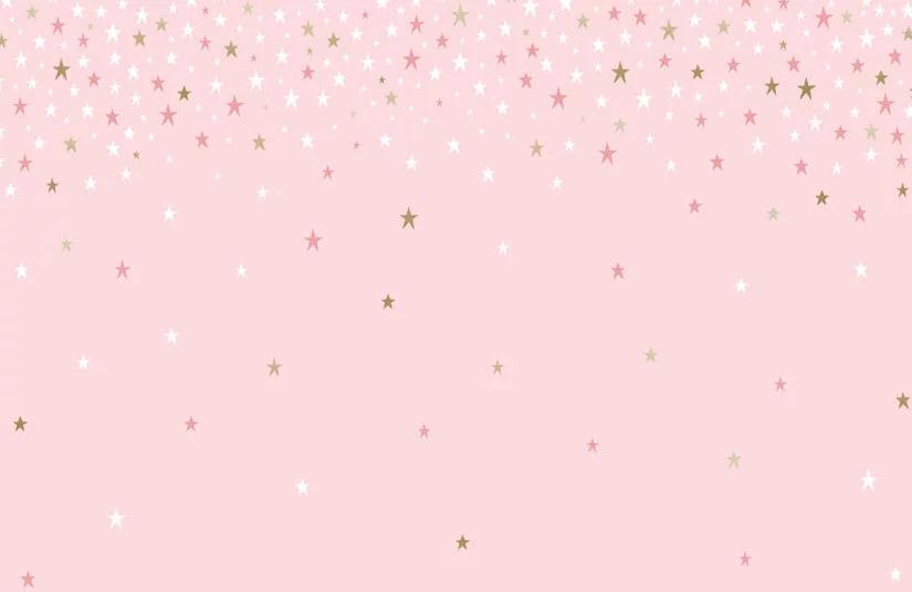 Pink Falling Star Wallpaper Mural