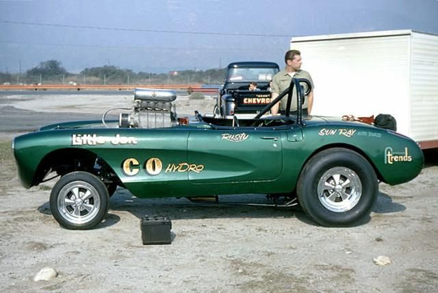 Rusty Delling 58 Vette gasser, 1968