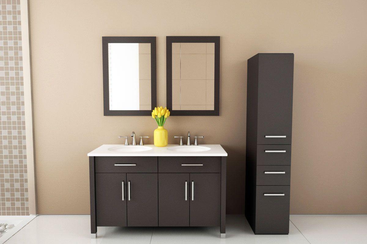 2 waschbecken badezimmer eitelkeiten  faszinierende  doppel waschbecken eitelkeit foto design  mehr