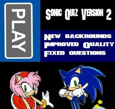 Ultimate Sonic Quiz V 2 Game Online Online Games For Kids Sonic Fun Online Games