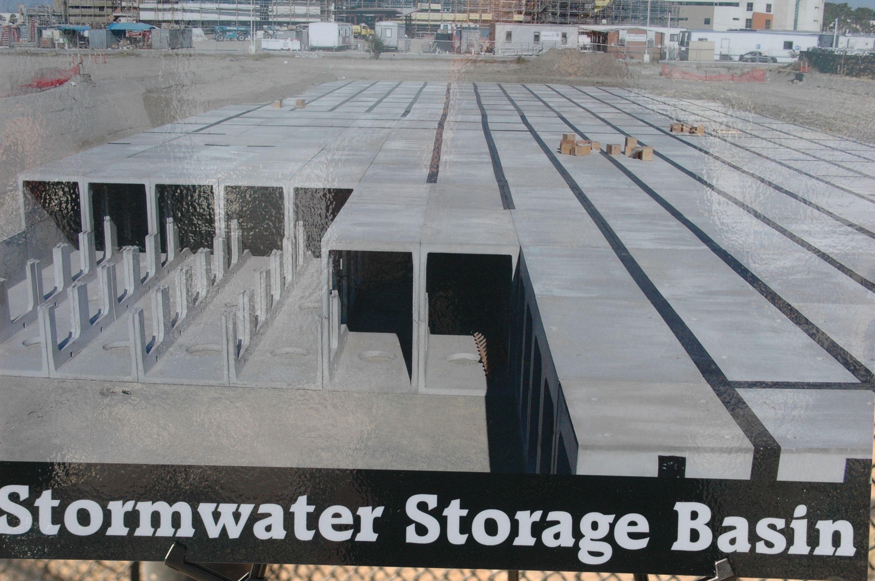 under-ground water storage tanks at Downey Park