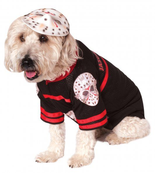 580053 Jason Voorhees Pet Costumes Includes The Jersey And Mask Wear The Mask As A Headpiece To Complete The Pet Costumes Dog Costumes Dog Costume