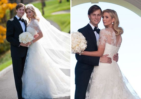 Inspiration For Abby S Wedding Dress Ivanka Trump Wore A Vera Gown Inspired By Grace Kelly On Her Day To Jared Kushner
