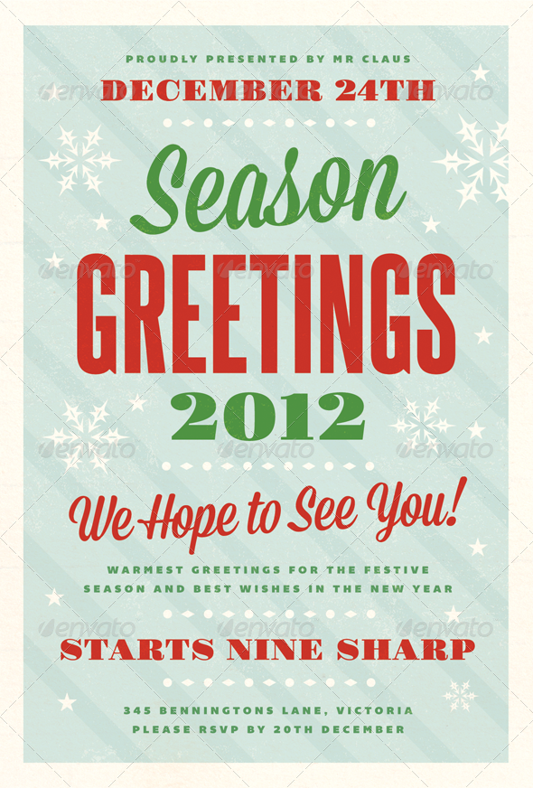 festive christmas flyer template holidays events country