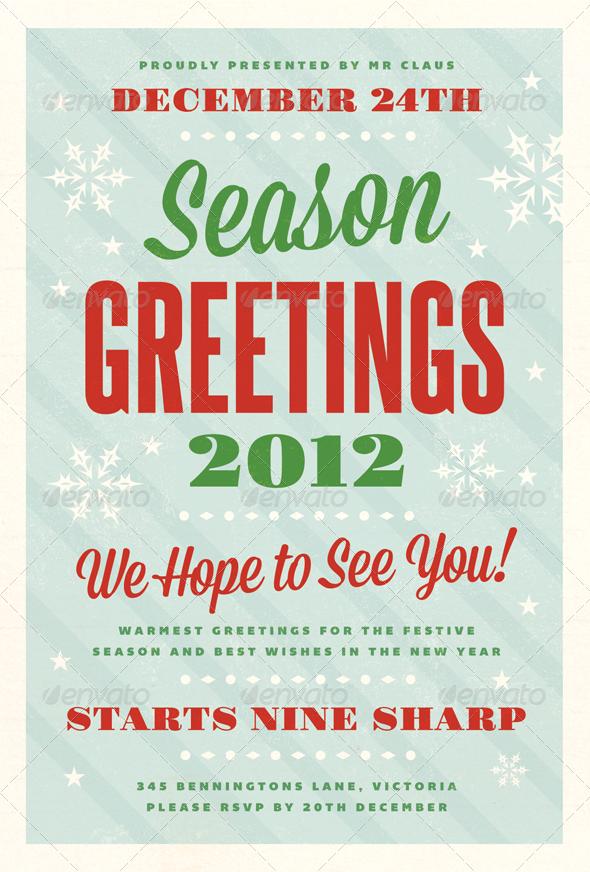 Festive Christmas Flyer Template Holidays Events Teacher