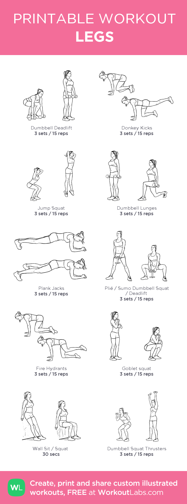 LEGS: my custom printable workout by @WorkoutLabs #workoutlabs #customworkout