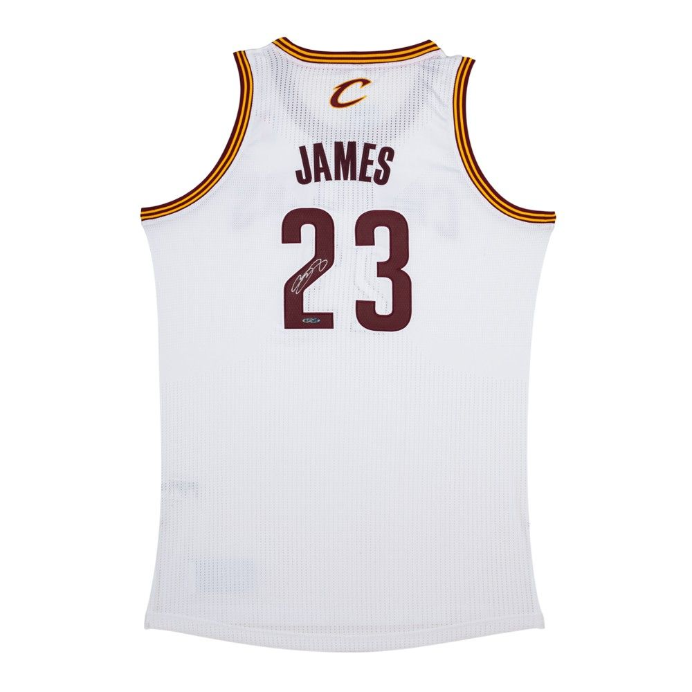 timeless design b1222 f3c36 LeBron James Signed Cleveland Cavaliers Authentic Adidas ...