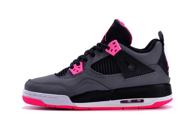 6d3a57804a1525 air jordan 4 (IV) GS shoes women-hyper pink