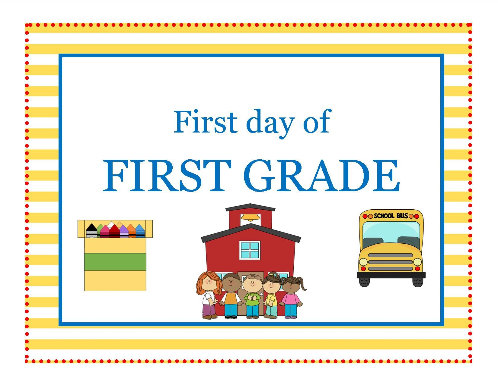 Free From Anchors Of Grace First Day Of First Grade
