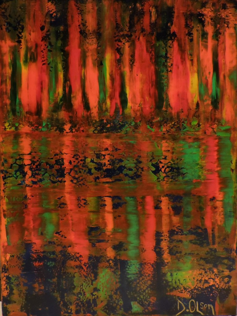 Derek Olson Fire By Water, Painting, Acrylic on Canvas