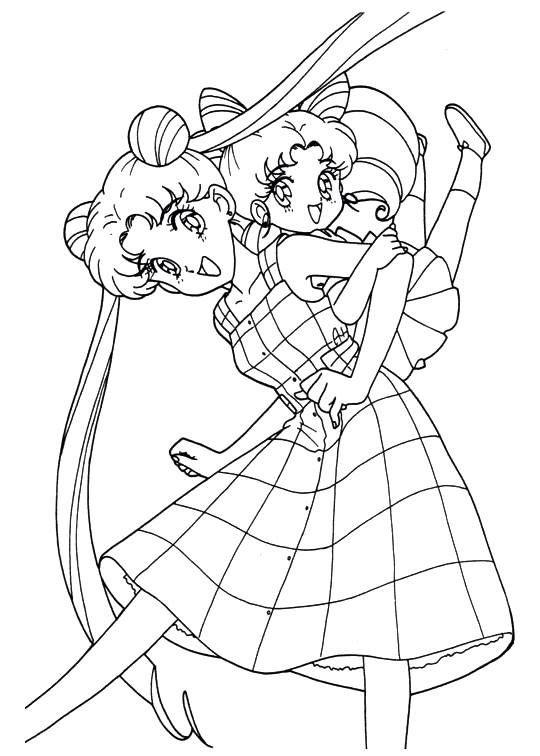 Sailor Moon Series Coloring Pages: Usagi and ChibiUsa | Sailor ...
