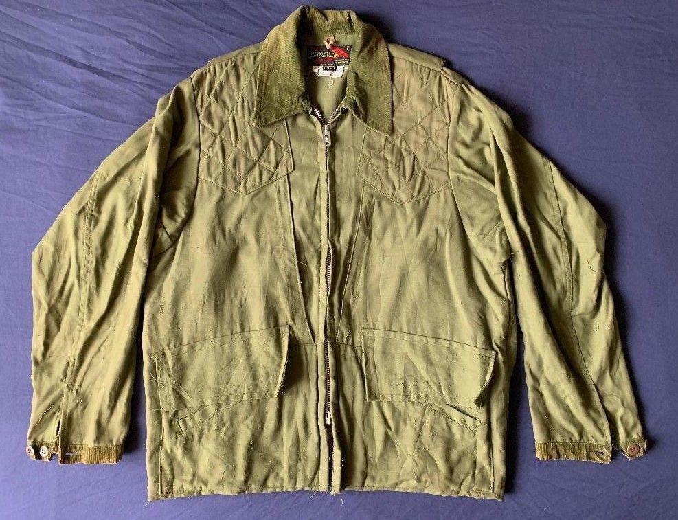 ed83288168550 Men's vintage 10-x olive green hunting shooting upland jacket size 42