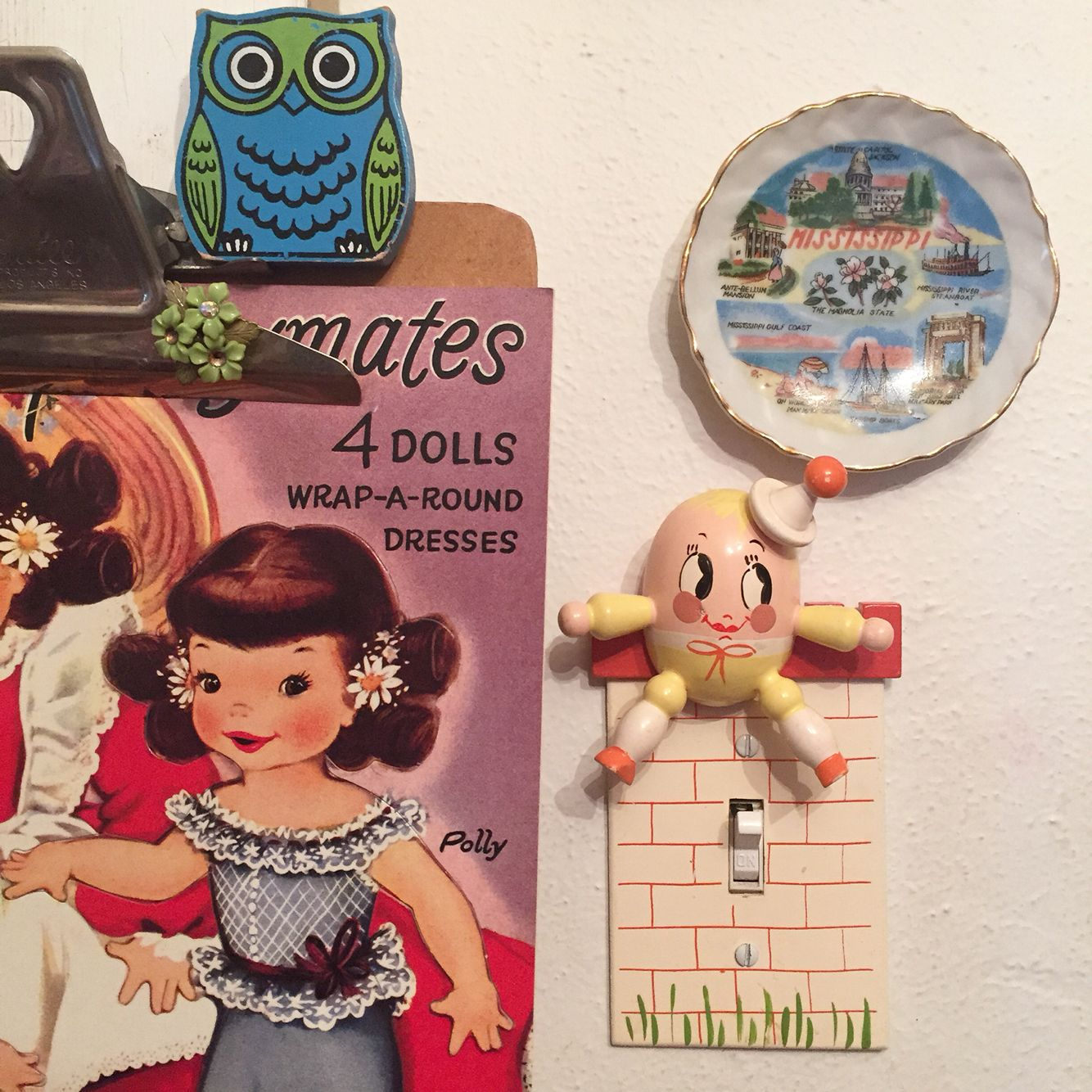 I love the Humpty nursery light switch cover in my dining room so much!