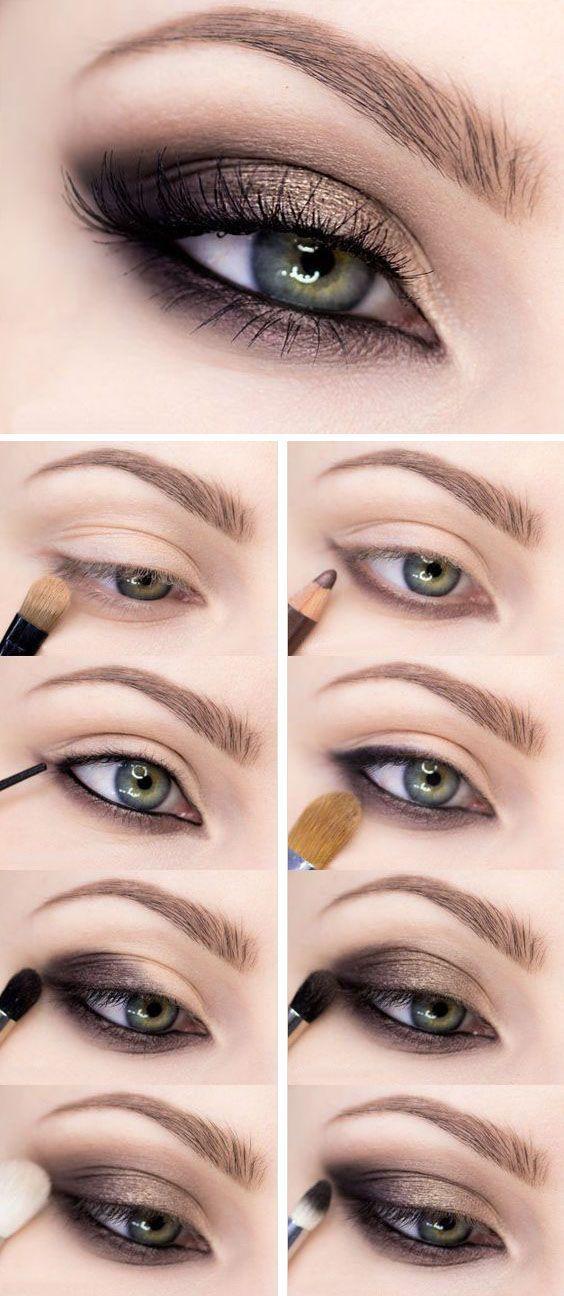 Photo of Einfache Smokey Eye Make-up Tutorial für Anfänger gewidmet Schritt für Schrit…