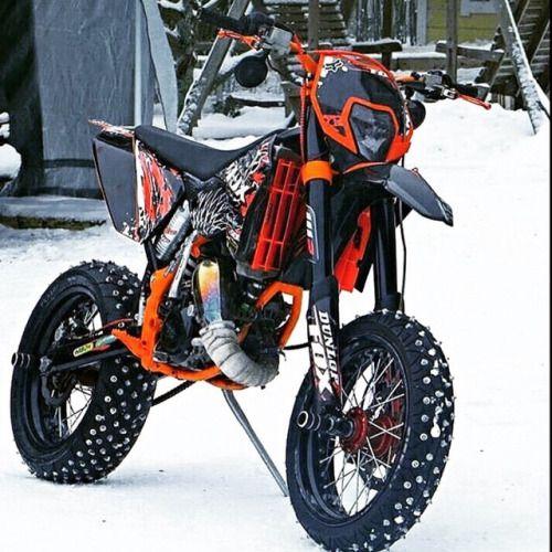 Snow Day Cool Dirt Bikes Motorcross Bike Ktm Dirt Bikes