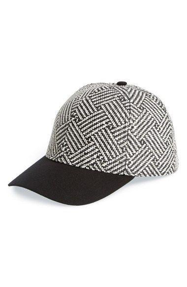 cffd6774b7d Women s Lucky Brand  Zig Zag  Straw Baseball Cap - Black