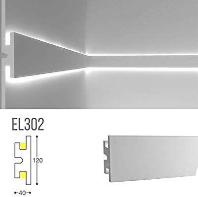 Amazon De Stuckleiste Wandleiste Deckenleiste Lichtleiste Fur Indirekte Led Beleuchtung El302 Beleuchtung Led Beleuchtung Modernes Beleuchtungsdesign