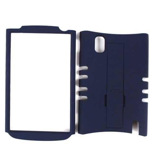 Unlimited Cellular Rocker Snap-On Case for LG Nexus 4 E960 (Honey Navy Blue Leather Finish)