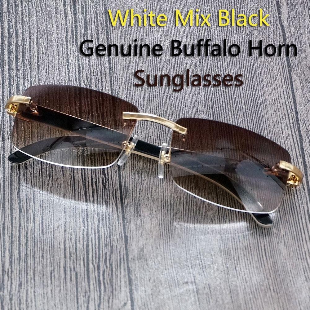 94143dac12 2017 Retro Buffalo Horn Glasses Men Carter Sunglasses Men Designer  Sunglasses Rimless Sun Glasses Driver for