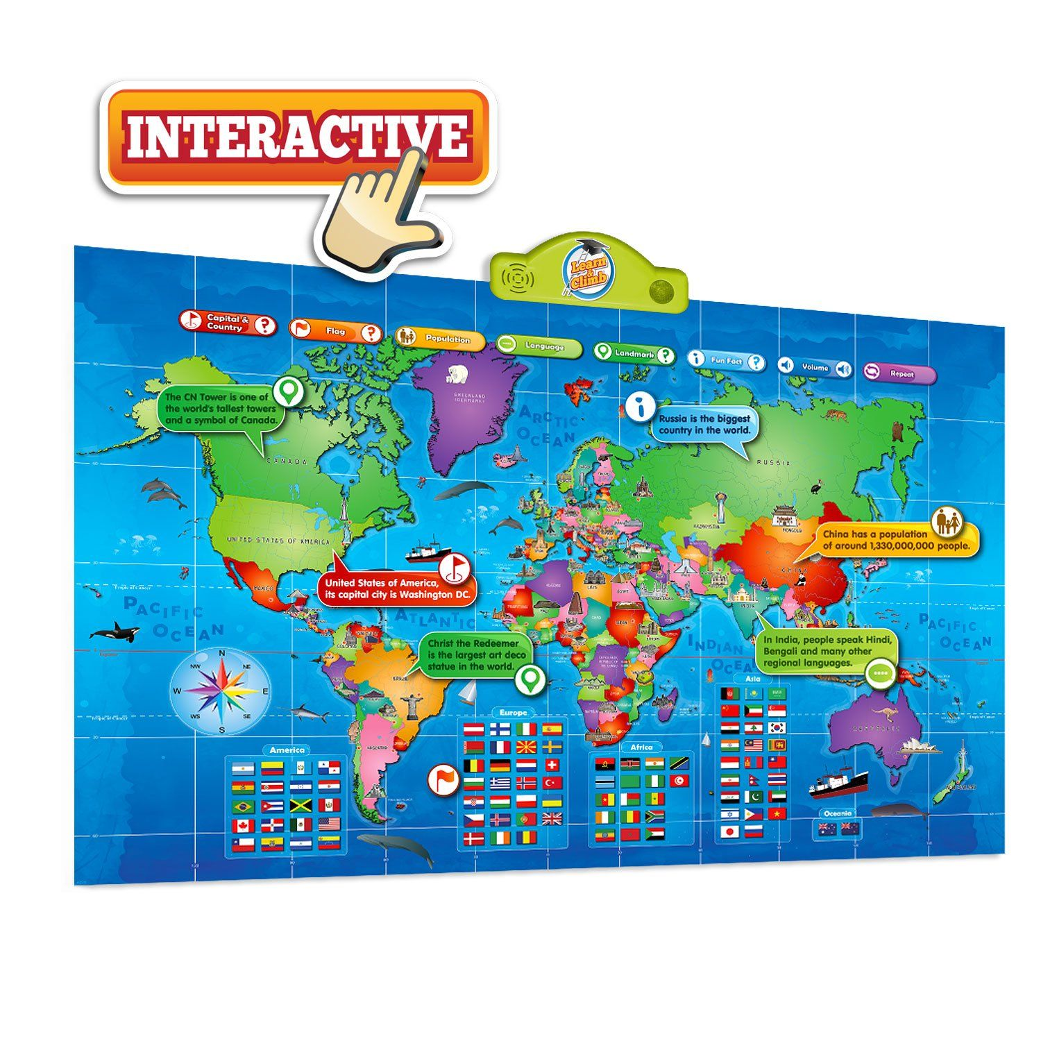 World Map Kids Interactive Map of the World Touch ...