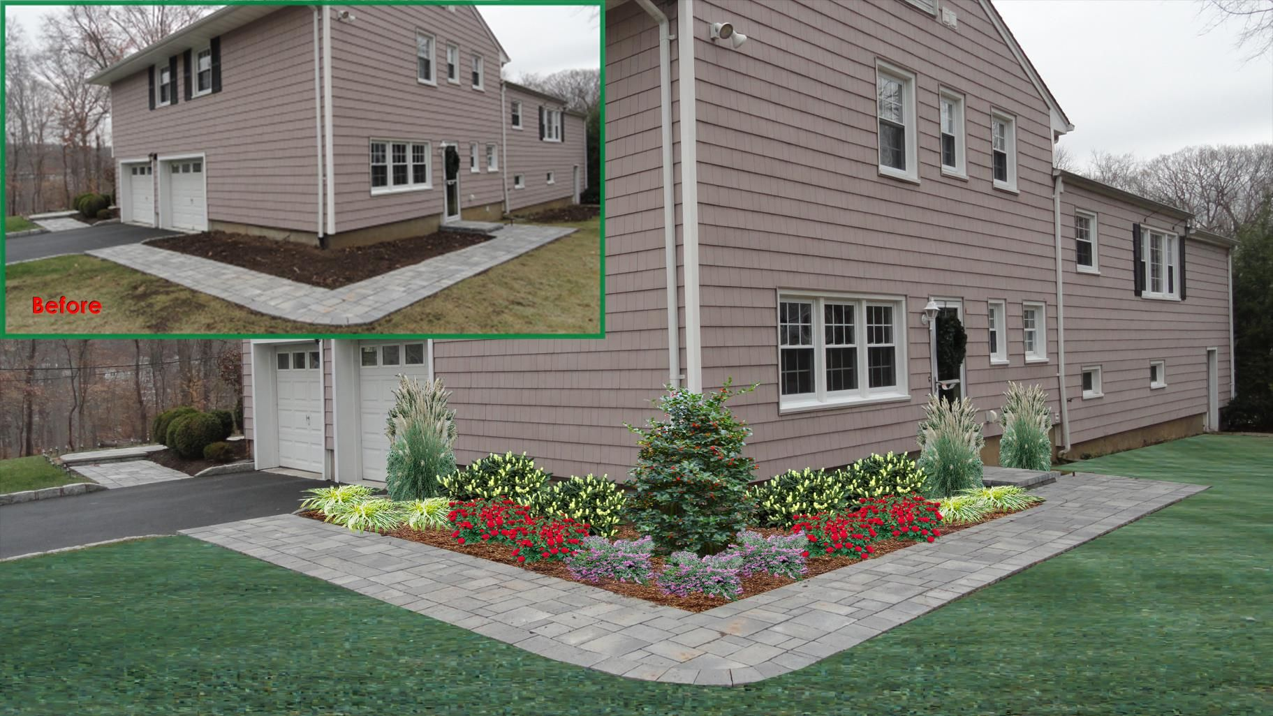 The corner of this house needed a nice landscape design. This is one on home and garden edging, home and pools, home and management, home and garden ponds, home and lighting, home and security, home and travel, home and site plan, home and maintenance, home and electronics, home and fashion, home and flowers,