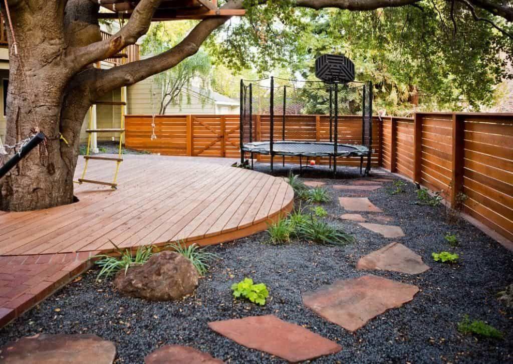Fun Outdoor Backyard Trampoline Large Backyard Landscaping Outdoor Backyard Backyard Trampoline
