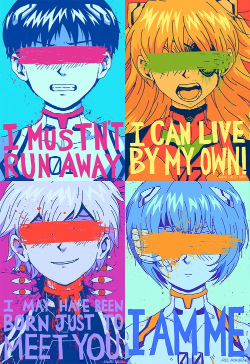 Gurren Lagann Quotes Wallpaper Evangelion Poster Anime Pinterest Neon Genesis