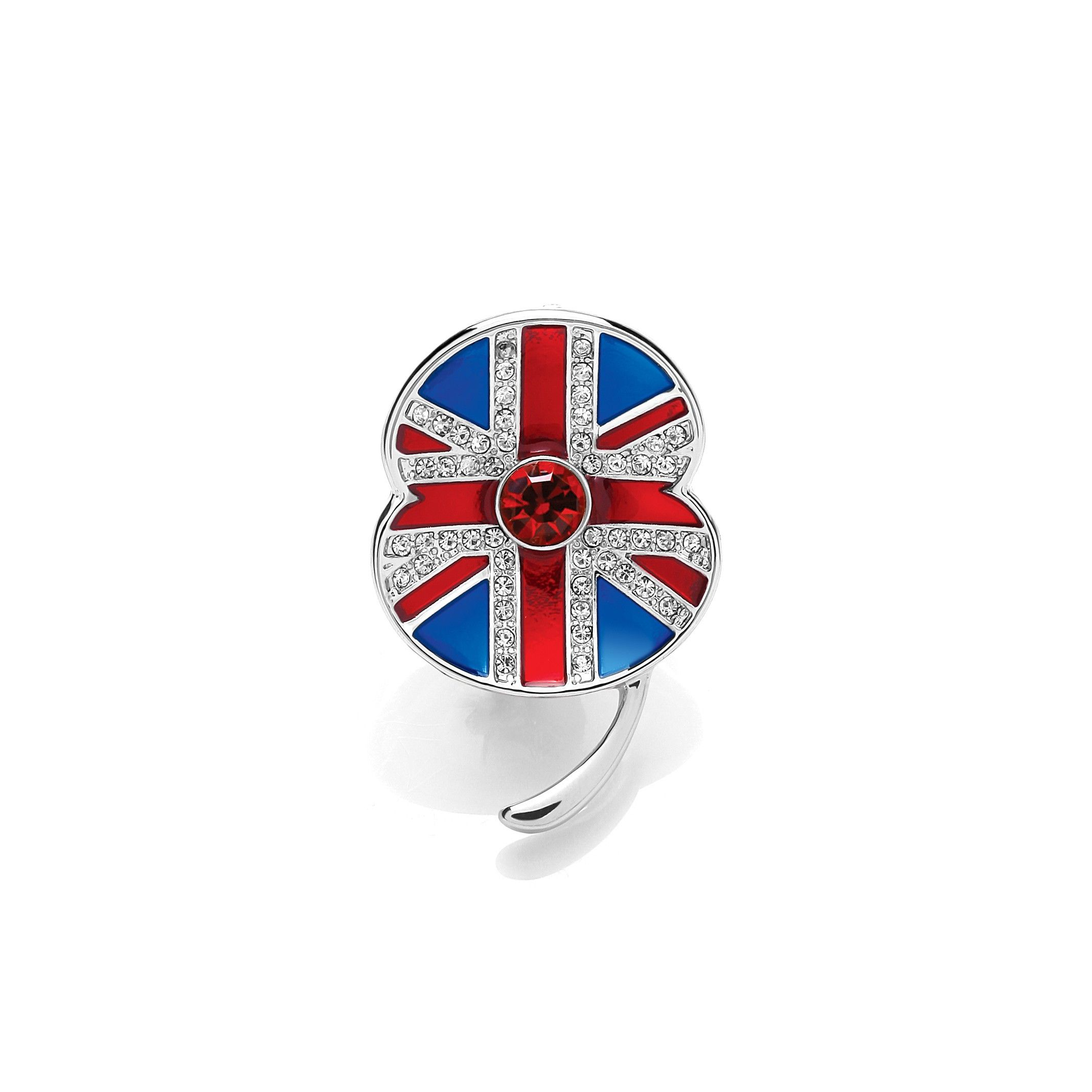 The Buckley Union Flag Poppy Brooch Poppy brooches