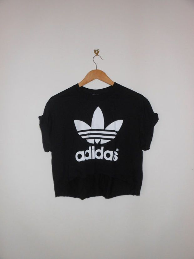 classic back adidas swag style crop top tshirt fresh boss dope celebrity  festival clothing urban unique