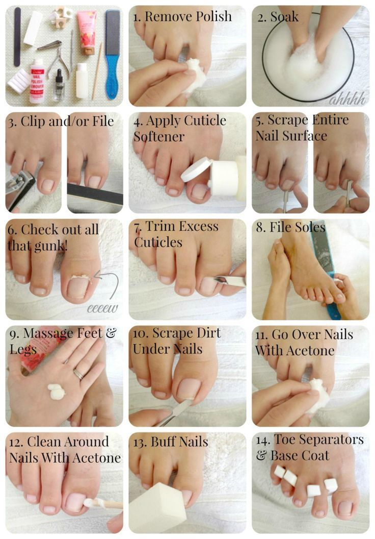 DIY Basic Pedicure #diybeauty