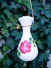 Hand-Painted Ceramic Hummingbird Feeder POSY Red Raindrop 2-Station by Lone Wolf