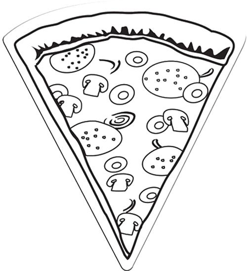 Pizza Slice Magnet Extralarge Coloring Page Pizza Coloring Page