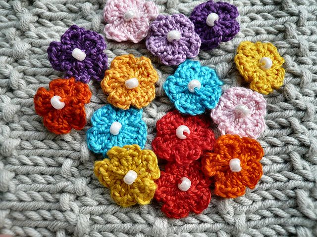 Teeny Tiny Crochet Flowers Note To Selfrfect For Edging The