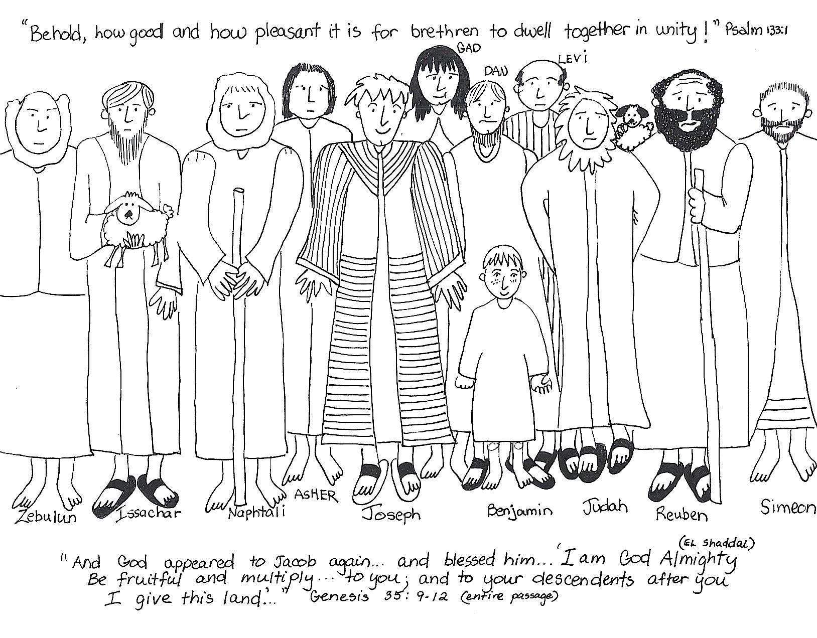 And His Brothers Coloring Pages Free Coloring Pages Of Joseph And
