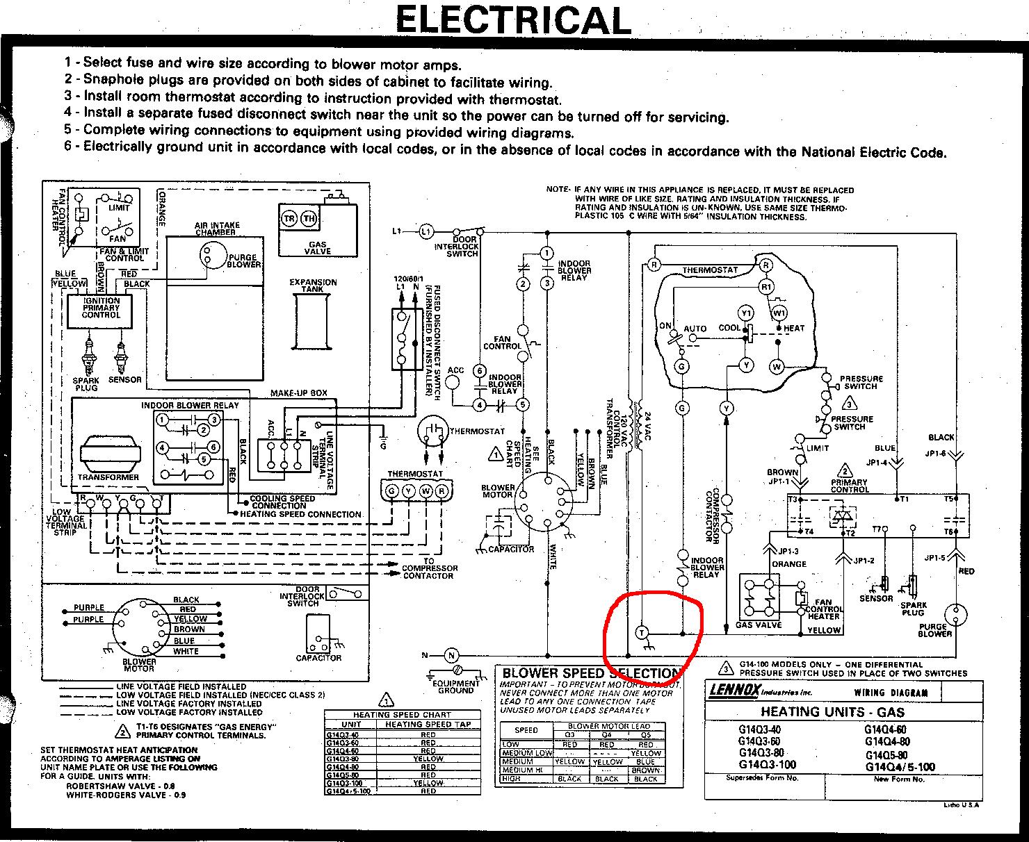 Old Lennox Furnace Wiring Diagram