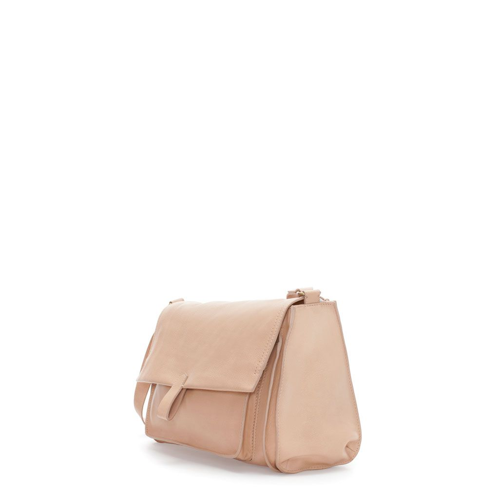 LEATHER MESSENGER BAG - Handbags - Woman - New collection   ZARA United States