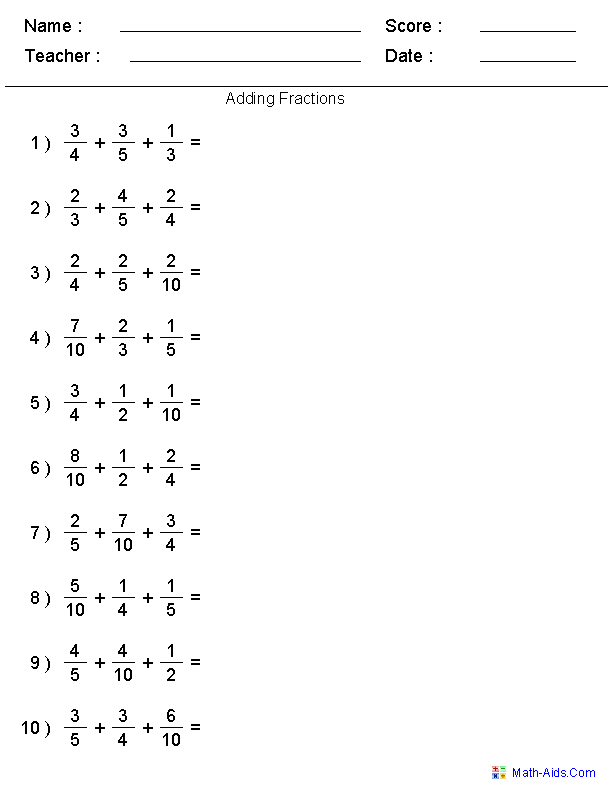 Fractions Worksheets Printable Fractions Worksheets For Teachers Math Fractions Worksheets Fractions Worksheets Fractions