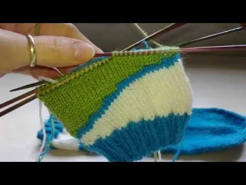 Socken mit verkürzten Reihen stricken Teil 2 YouTube