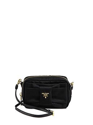 05501c52e7fa Prada Tessuto Nylon Bow Crossbody Bag