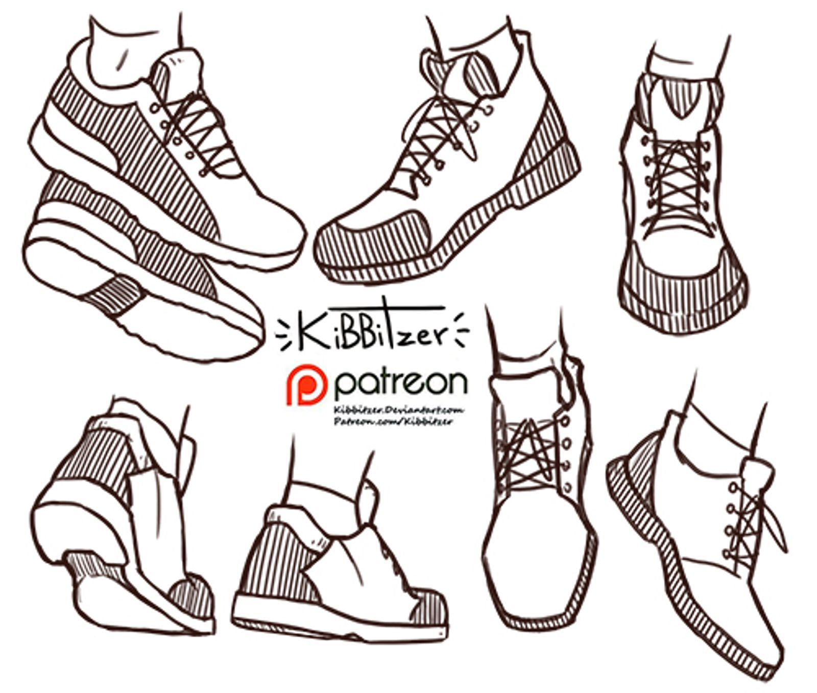 Shoes reference sheet ,PREVIEW,