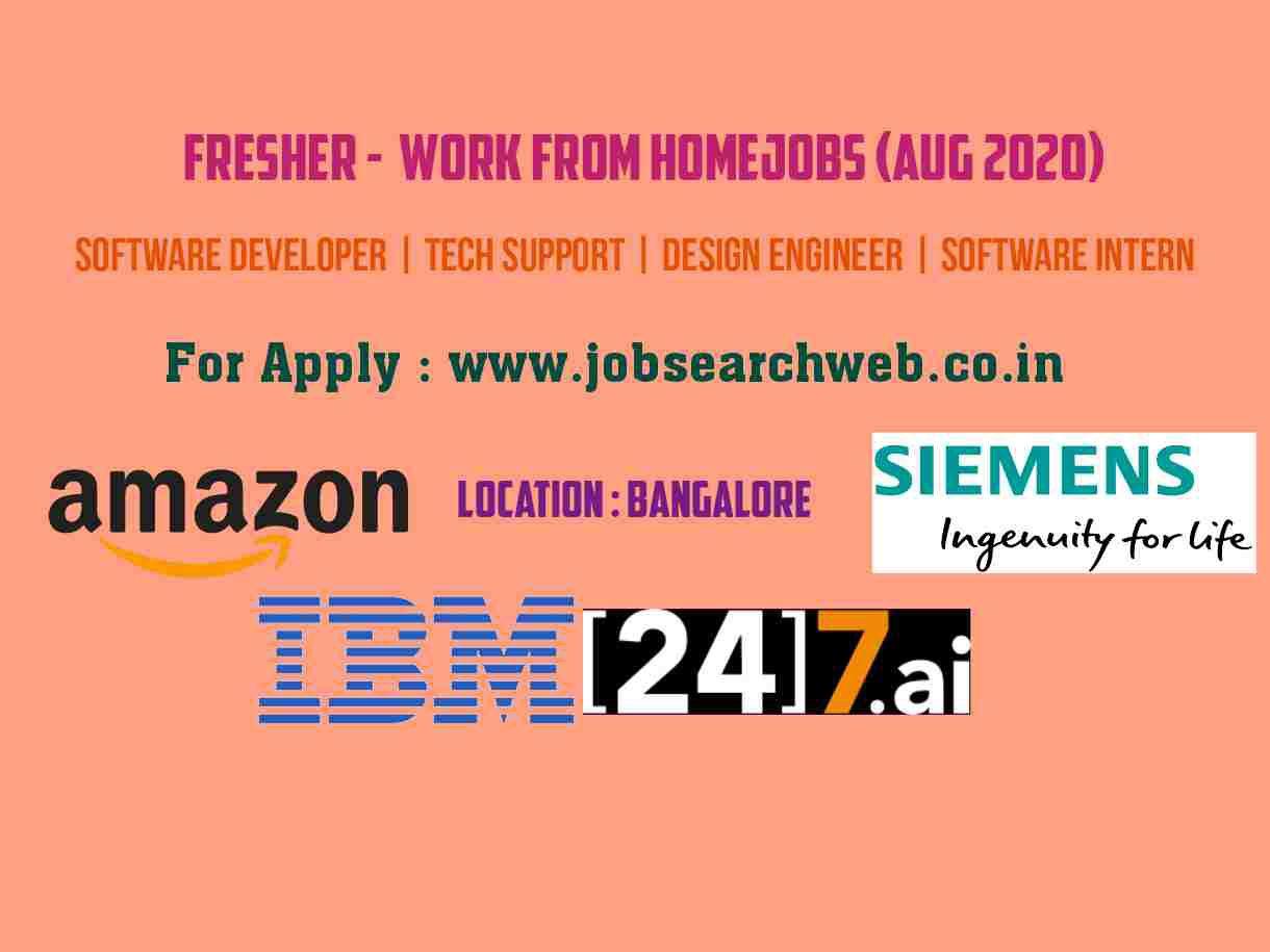 Fresher Jobs Amazon Siemens IBM [24]7.ai is hiring